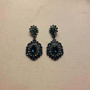 H&M Blue Dangle Earrings